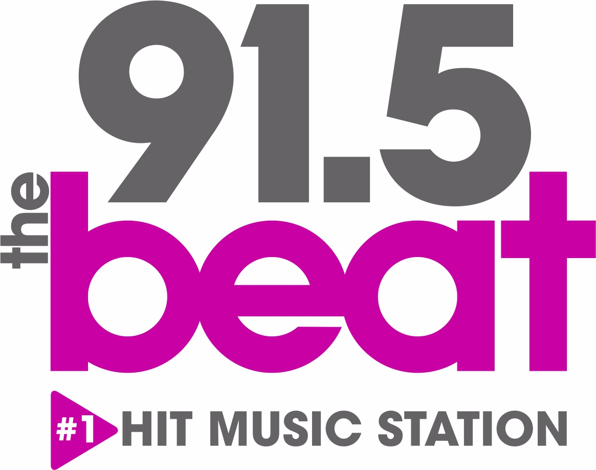 91.5 the beat logo stacked 2017