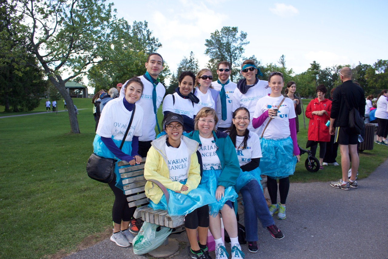 Leading researcher and her lab team walk the Walk - Ovarian