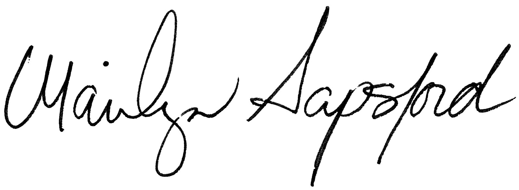 Marilyn Sapsford's signature